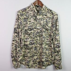 Ann Taylor Button Down Shirt Career Top Size Med